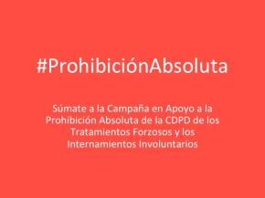 Aporte a la Campaña #ProhibiciónAbsoluta por Lucila López, Usuaria y sobreviviente de la psiquiatría enArgentina